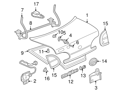 Lid & Components for 1997 Chevrolet Malibu #0