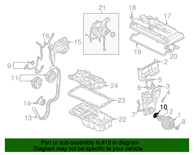 Plate, Timing Belt Guide