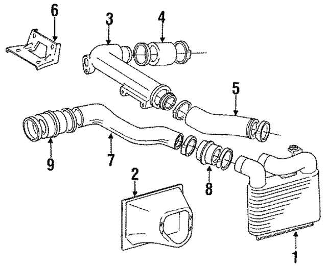 1991 1995 Toyota Mr2 Connector Hose 17346 74040