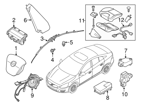 Air Bag Components for 2013 Volvo S60 #0