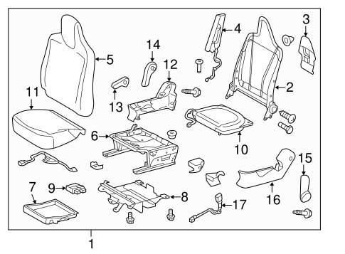 BODY/PASSENGER SEAT COMPONENTS for 2015 Scion iQ #1
