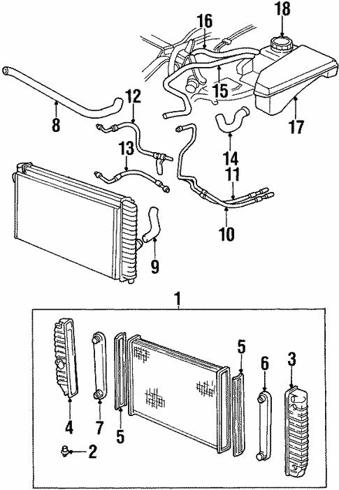 radiator  u0026 components for 1998 oldsmobile aurora