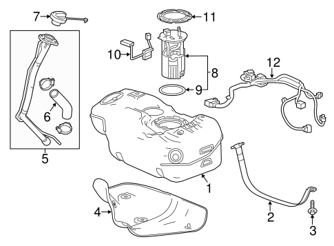 Fuel System Components For 2014 Chevrolet Spark