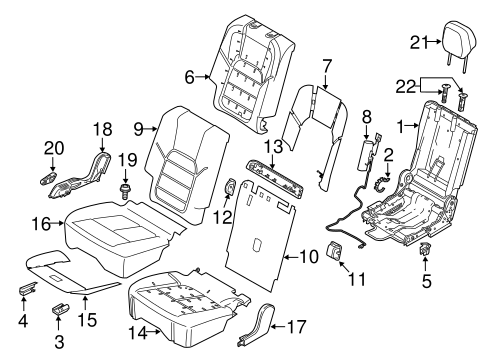 Rear Seat Components For 2017 Porsche Cayenne