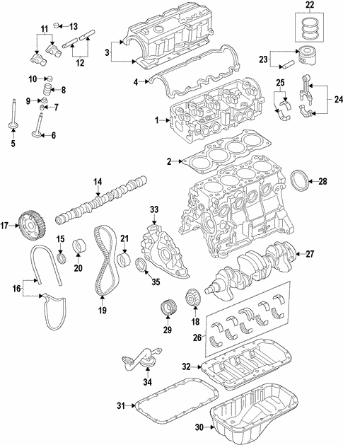 Engine Parts For 1990 Mazda Mx 6 Mazda Parts