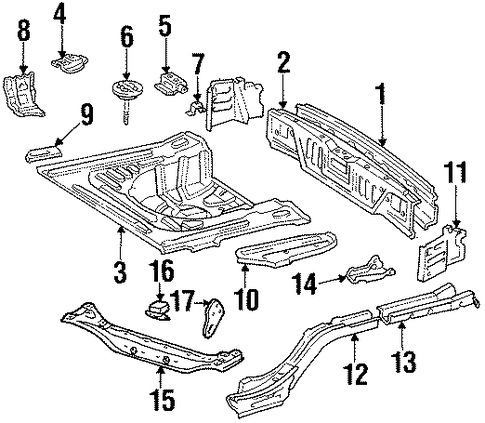 BODY/REAR BODY for 1997 Toyota Corolla #1