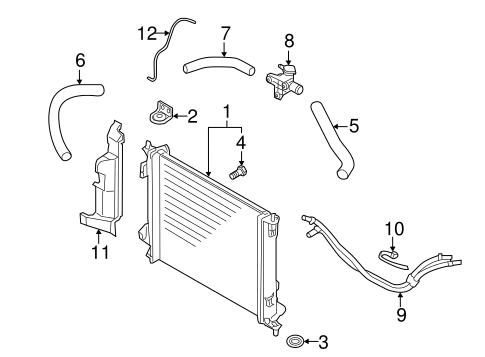 radiator  u0026 components for 2013 kia soul
