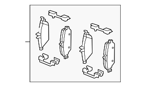 Brake Pads - Mercedes-Benz (008-420-03-20)