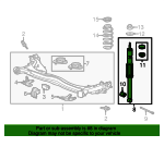 Shock Absorber, Rear - Honda (52610-SZT-307)