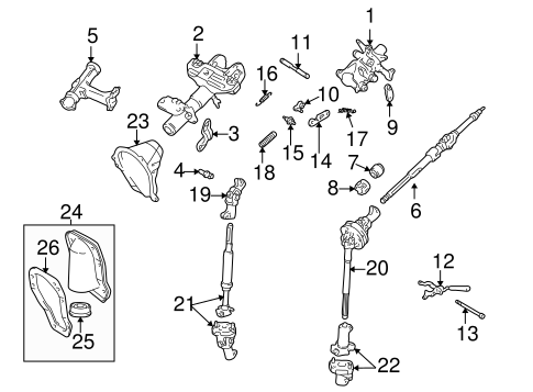 STEERING/STEERING COLUMN ASSEMBLY for 1996 Toyota Tacoma #1
