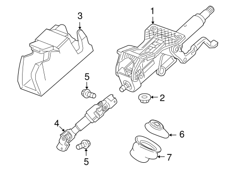 Steering Column Assembly For 2016 Chevrolet Cruze Limited