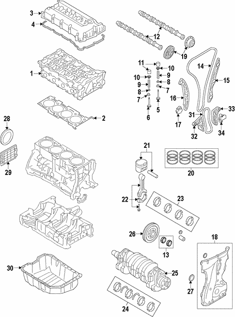 Engine for 2015 Hyundai Santa Fe Sport #2