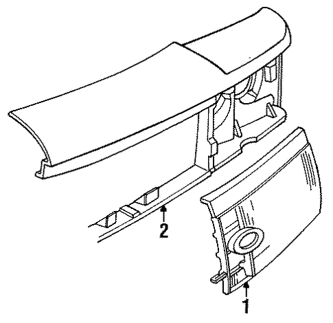 Front Panel For 1991 Mercury Grand Marquis