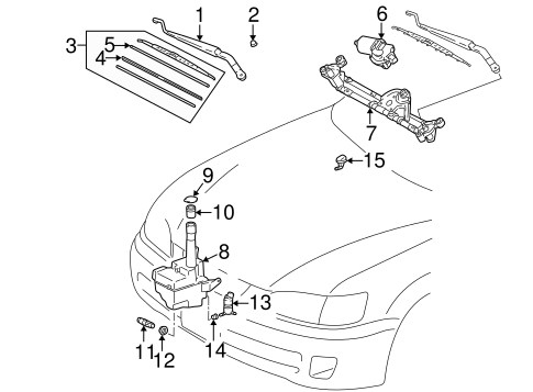 BODY/WIPER & WASHER COMPONENTS for 2001 Toyota Camry #1