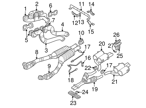 Exhaust Components For 2002 Bmw M5