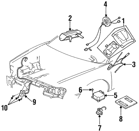 Air Bag  ponents Scat moreover Oldsmobile 307 Engine Timing Belt Diagram likewise Gm Fan Motor 12463002 in addition T2903131 Replace power steering pump likewise 2000 Oldsmobile Alero Parts Diagram. on buick aurora