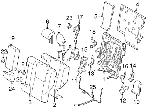 Rear Seat Components For 2017 Toyota Rav4