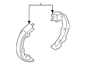 Brake Shoes - Nissan (D4060-5RB0A)