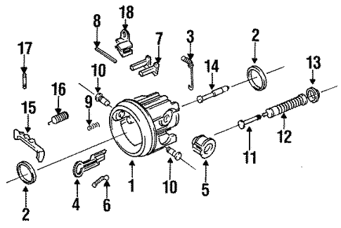 Tilt Steering Column Components for 1998 Oldsmobile 88 #0