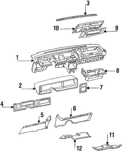 instrument panel parts for 1990 cadillac eldorado