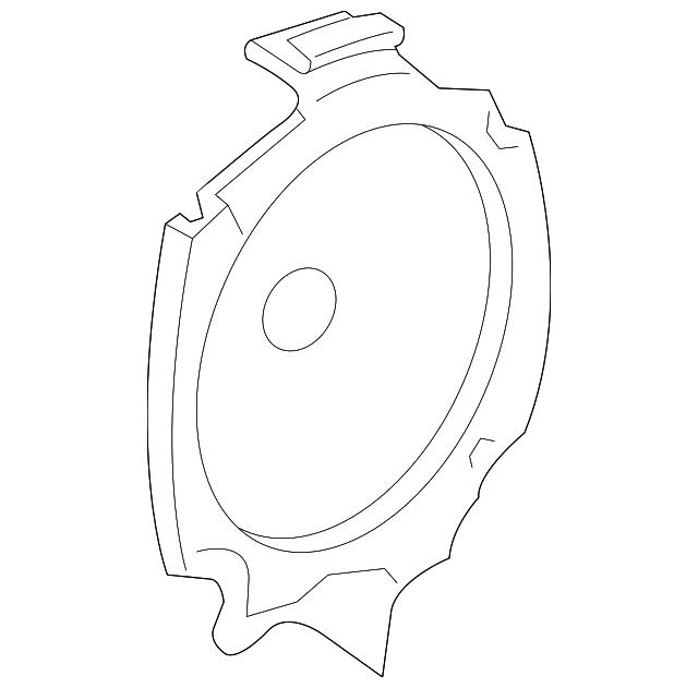 Gm Rear Dr Speaker 15757321 on Buick Rainier Speaker