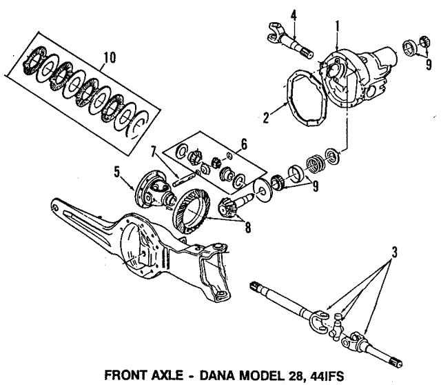 1984 1998 Ford Pinion Bearings 8a4628