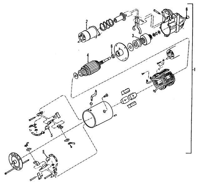 1984 2002 Gm Starter 10465054