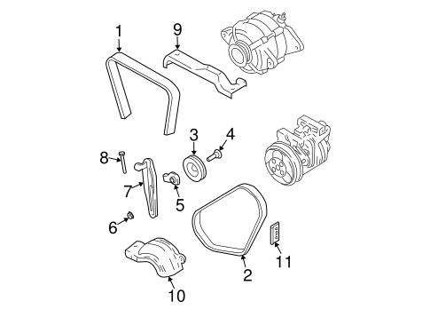 Belts & Pulleys for 2004 Subaru Forester #1