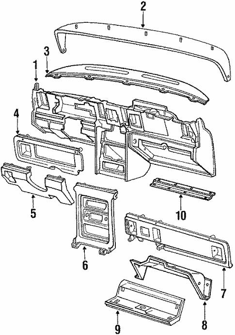 instrument panel for 1986 ford thunderbird