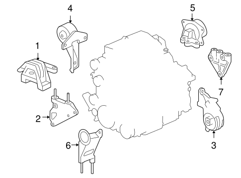 Pontiac G6 Motor Mount Diagram