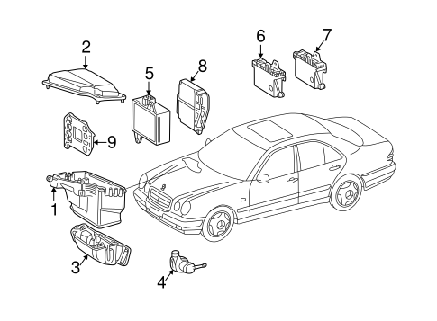 Electrical Components for 2001 Mercedes-Benz E 430 #2