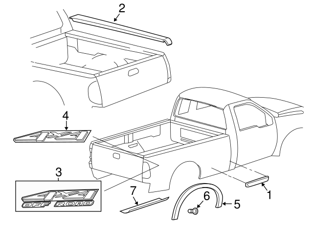 Genuine Ford YC3Z-9925622-AAB Nameplate