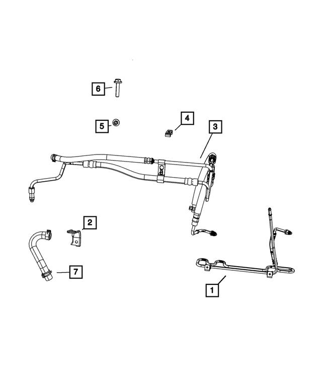 Genuine Chrysler 4880914AA Power Steering Return Hose