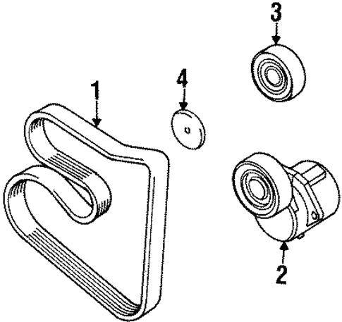 Belts Pulleys For 1997 Bmw 318i