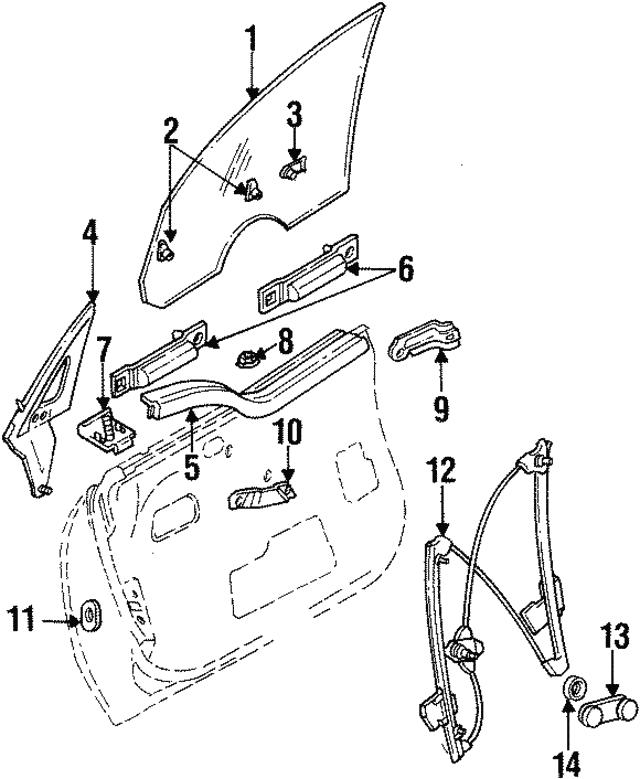 1995 1999 Dodge Neon Window Regulator 4658978ad