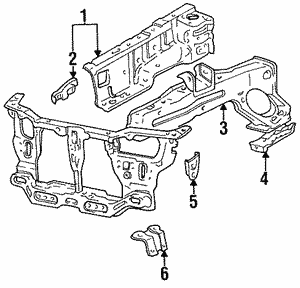 Genuine Hyundai 64606-22301 Fender Member Assembly