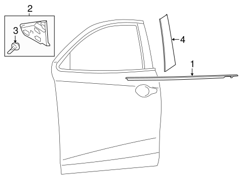 Body/Exterior Trim   Front Door For 2017 Toyota Yaris IA #1