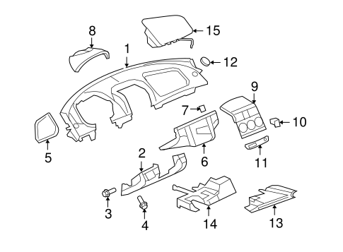 Instrument Panel Components For 2007 Saturn Sky