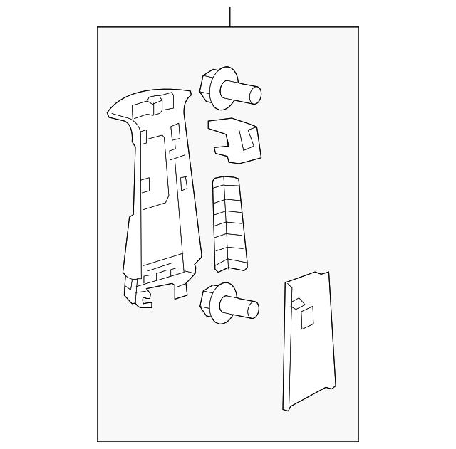Toyota 62410-AC080-B1 Center Pillar Garnish