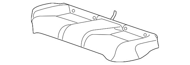 Rear Honda Genuine 82131-SH0-A11ZC Seat Cushion Trim Cover