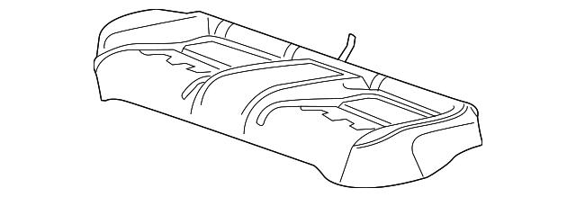 Honda Pad Rear Seat Cushion 82137 Tvc L21
