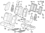 Armrest Assembly, Rear Seat Center*NH900L* (Leather) (Deep Black) - Honda (82180-TVA-A41ZA)