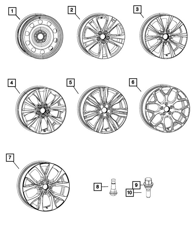 Aluminum Wheel - Mopar (1WM50JXYAA)