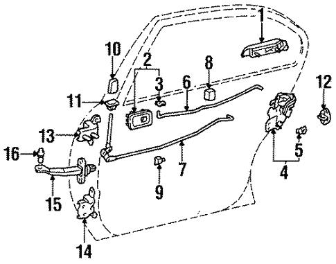 Genuine Oem Lock Hardware Parts For 1995 Toyota Tercel Dx