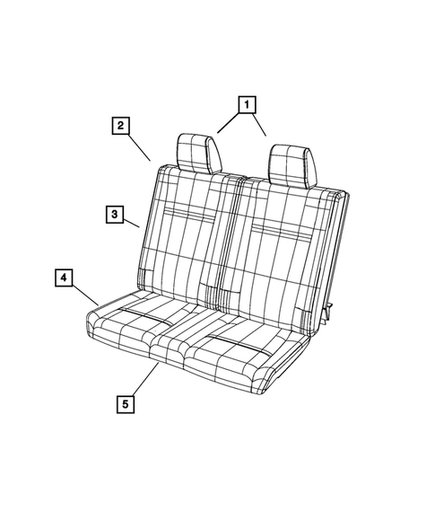 Rear Seats - Third Row for 2016 Dodge Journey #0