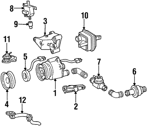 Emission Components for 1998 Mercedes-Benz SL 500 #2