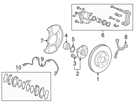 Caliper Sub-Assembly, R Front