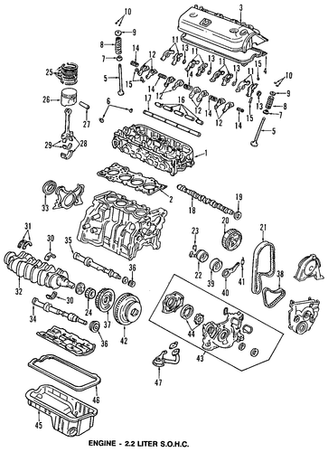 Shaft B, Rocker Arm