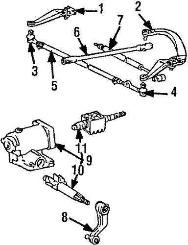 steering gear  u0026 linkage for 1986 toyota 4runner