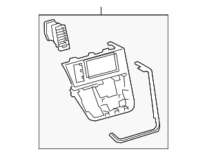 Radio Trim - Toyota (55405-08050)